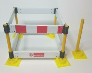 """1:12th scale Safety Barrier set. with """"No Smoking and plank decals""""  100mm plank"""