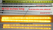 2 AMBER BRIGHT 30 LED 5050  Waterproof Flexible Light Strip BLACK PCB board
