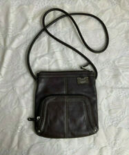 Tignanello Cross Body Small Purse Pebbled Brown Leather Travel/Easy Shopping