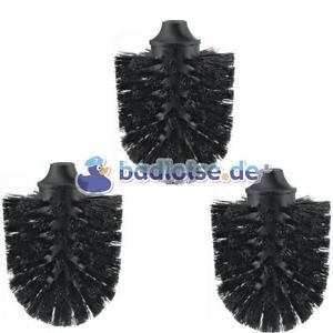 WC-Ersatz-Bürstenkopf Ersatzbürstenkopf Bürste schwarz 3 stk passend zu SMEDBO H