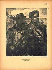 Journée du Poilu Poilus Soldats Affiche de la Guerre Dessin de Steinlen 1915 WWI