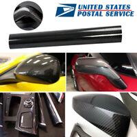 5D Glossy Carbon Fiber Vinyl Film Car Interior Wrap Stickers Parts Accessories