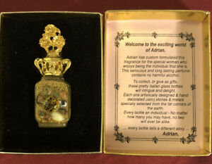 One Only!Limited Edition Designers Fragrance Adrian Design Gold & Ruby Hand Made