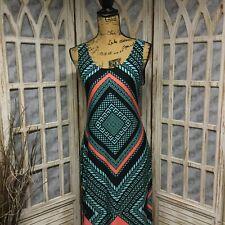 Women's Bailey Blue Maxi Dress Orange,Blue,Black Stretchy Material Size L Large