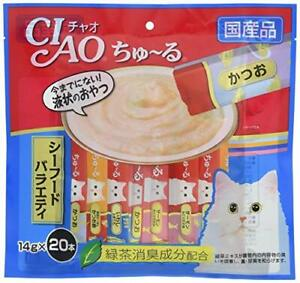 CIAO Snacks for cats Churu Seafood Variety 14g x 20 pieces JAPAN NEW F/S