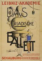 Kunstkarte / Postcard Art   Bauhaus - Oskar Schlemmer: Leibniz-Akademie