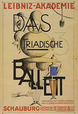 Tarjeta de arte/Postcard tipo-Bauhaus Oskar Schlemmer: Leibniz-Academia