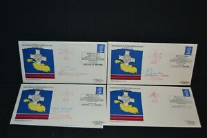 Royal Engineers series 12 set of 4 covers with 3 signed.