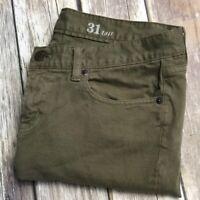 J.Crew Jeans Toothpick Green 31 Tall Stretch