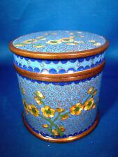 Asian Humidor Tobacco Jar Tea Opium Spice Jar Cloissone Enamel Paint @H