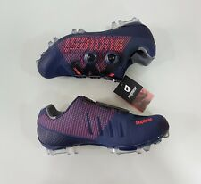 Suplest Crosscountry XC Pro Carbon Mountain Bike MTB Shoes Size 42.5 Navy Coral