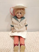 "Antique 21"" Armand Marseille German Bisque Doll 370 A-1-M DEP Kid Leather Body X"