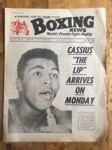 Boxing News 1963 x 9 issues Clay Cooper Ali Liston Patterson Title fights