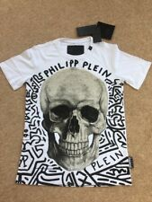 "Encantador genuino PHILIPP PLEIN ""Madera-S"" XXL Blanco Camiseta totalmente nuevo con etiquetas"