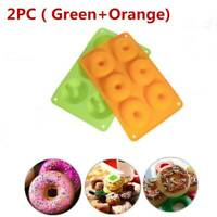 2X Donut Muffin Chocolate Cookie Cheesecake Baking Silicone Mold DIY Mould Top