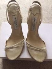 Jimmy Choo Gold Metallic Nappa Sandals Size 37