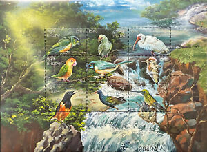 BHUTAN BIRDS OF THE WORLD STAMPS 1999 MNH PARROT HUMMINGBIRD WILDLIFE WATERFALLS