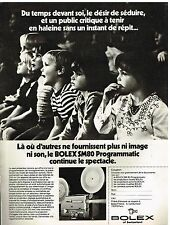 Publicité Advertising 1978 Le Projecteur Bolex SM80 Programmatic