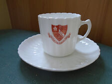 RARE VINTAGE OLD GIRLS CLUB LIVERPOOL COLLEGE - CRESTED CHINA CUP & SAUCER