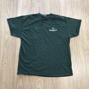 Men's Morrison's Staff Uniform T-Shirt Gildan XL Extra Large Green JG1318