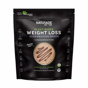 NATURADE Plant-Based Weight Loss High Protein Shake, 41.5 oz Chocolate&Vanilla