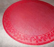 "Christmas Red lace design Tablecloth 70"" round"