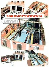 Engine shed, 3-stall roundhouse laser cut kit for model trains layout 1:87 HO