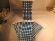 10 Count Blue Plaid Resealable Kraft Paper Bag Coffee
