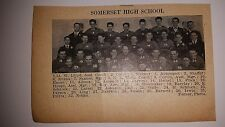 Somerset & Lansdowne High School Pennsylvania 1926 Football Team Picture