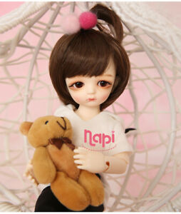 New clothes Hair shoes For 1/6 BJD Doll Napi Maron