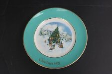 "1978 Avon Decorative Collectable Christmas Plate ""Trimming the Tree"""