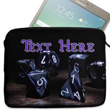 """Personalised Tablet Case D&D GAMER Neoprene Sleeve Cover 7"""" 8"""" 9"""" 10"""" 11"""" KS26"""