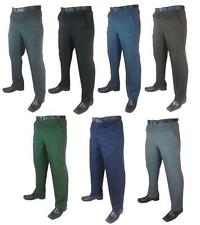 Mid Rise Big & Tall Flat Front Trousers for Men
