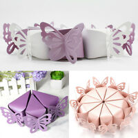 50Pcs Butterfly Favor Gift Candy Cake Box Bags Baby Shower Wedding Party Supply