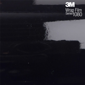 3M Scotchprint 1080/2080 Series Black Gloss Vinyl Vehicle/Car Wrap Film (G12) UK