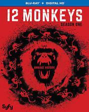 12 Monkeys: Season One 1 (Blu-ray Disc, 2016, 3-Disc Set, Includes Digital Copy)