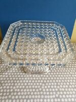 Vintage Cut Glass Table Centre Piece/Cake Stand.