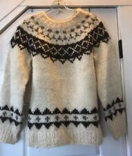 Rare Old Abercrombie & Fitch Mens/Women's Small Wool Hand knit Icelandic Sweater