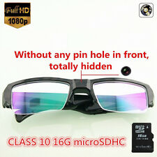 16GB HD1080P Spy Camera Hidden Cam Half Frame Glasses Eyewear Camcorder MINI DVR