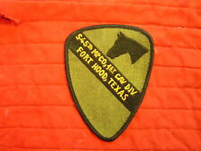 545TH MP CO. 1ST CAV DIV FORT HOOD, TEXAS PATCH
