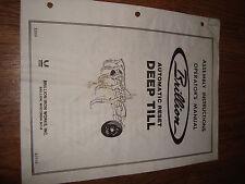 Brillion Automatic Reset Deep Till Operators Manual