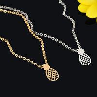 Gold Silver Dainty Pineapple Pendant Necklace Cute Fruit Women Girls Choker Gift