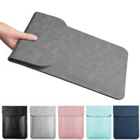 Thin PU Leather Sleeve Case Cover Laptop Bag For MacBook Air Pro 11 12 13 15