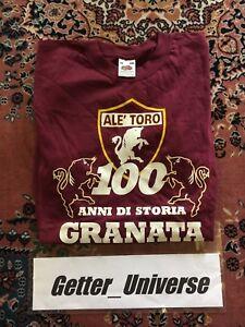 RARISSIMA T-SHIRT CENTENARIO TORINO CALCIO ALE' TORO GRANATA TG 12/13 ULTRAS ITA