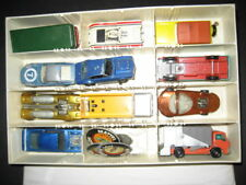 Vintage Hot wheels collectors case &12  original red line & lesney Matchbox cars