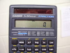 CASIO FX-260SOLAR FRACTION SCIENTIFIC CALCULATOR WITH SLIDE CASE