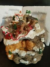 Tested Good Christmas 1998 Heritage Mint Musical Fountain In Box