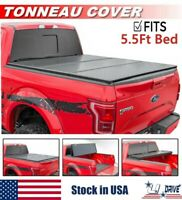 Hard Solid Tri-fold For 2004-2020 Ford F-150 5.5ft /66in Short Bed Tonneau Cover