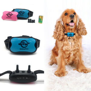 Anti bark dog training safe collar device control stop no shock sound vibration