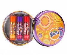 NEW UNUSED Lip Smacker Fanta Flavoured Lip Balm Round Tin - 3 glosses